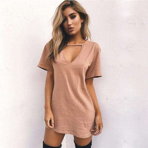 Choker V-neck Boho Beach Dress,, style flaire clothing fashion and gifts