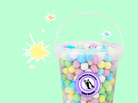 bucket of bon bon sweets