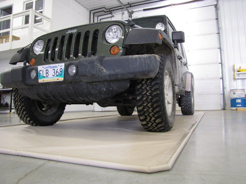 Jeep on Garage Mat