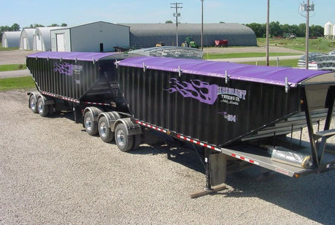 Purple Roll Tarps