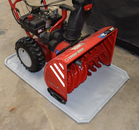 Grey snowblower mat from Winkler Canvas