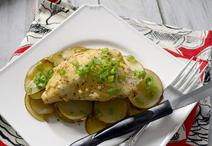 Garlic Chicken with Sliced Potatoes - Ready. Chef. Go!