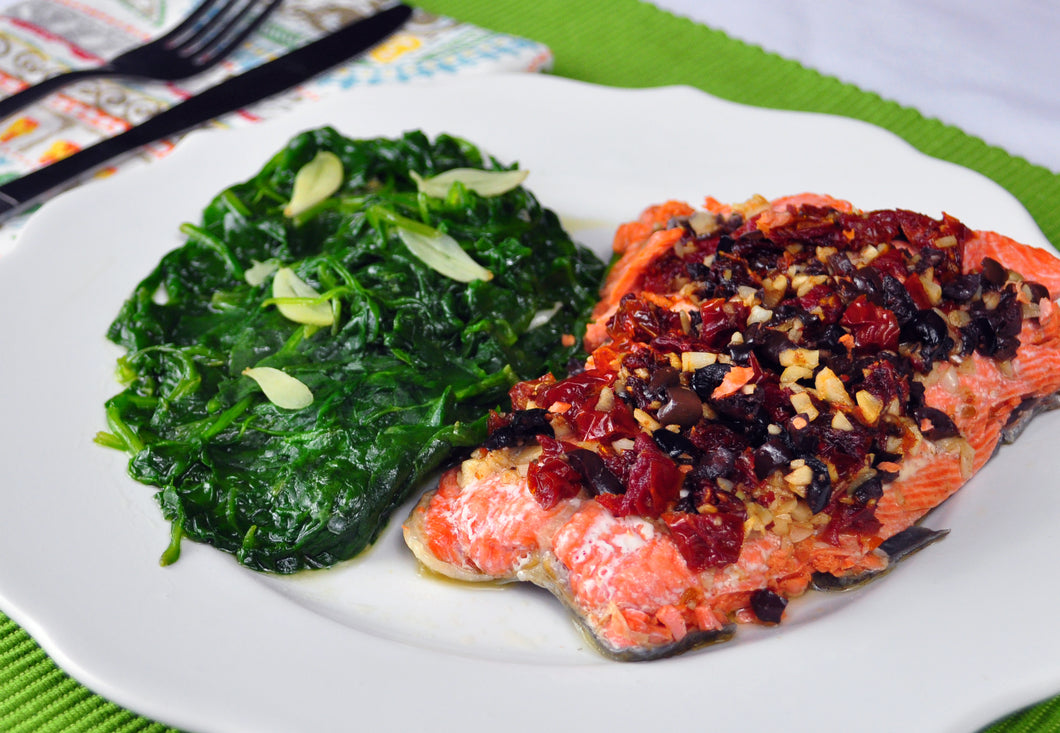 Salmon with Sun Dried Tomato and Olive Tapenade - Ready. Chef. Go!