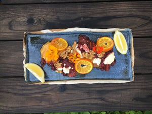 Butternut Squash with Cranberry, Walnut, Oranges, and Feta