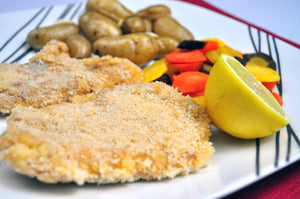 Oil-Free Light Chicken Schnitzel (Breaded Chicken) - Ready. Chef. Go!