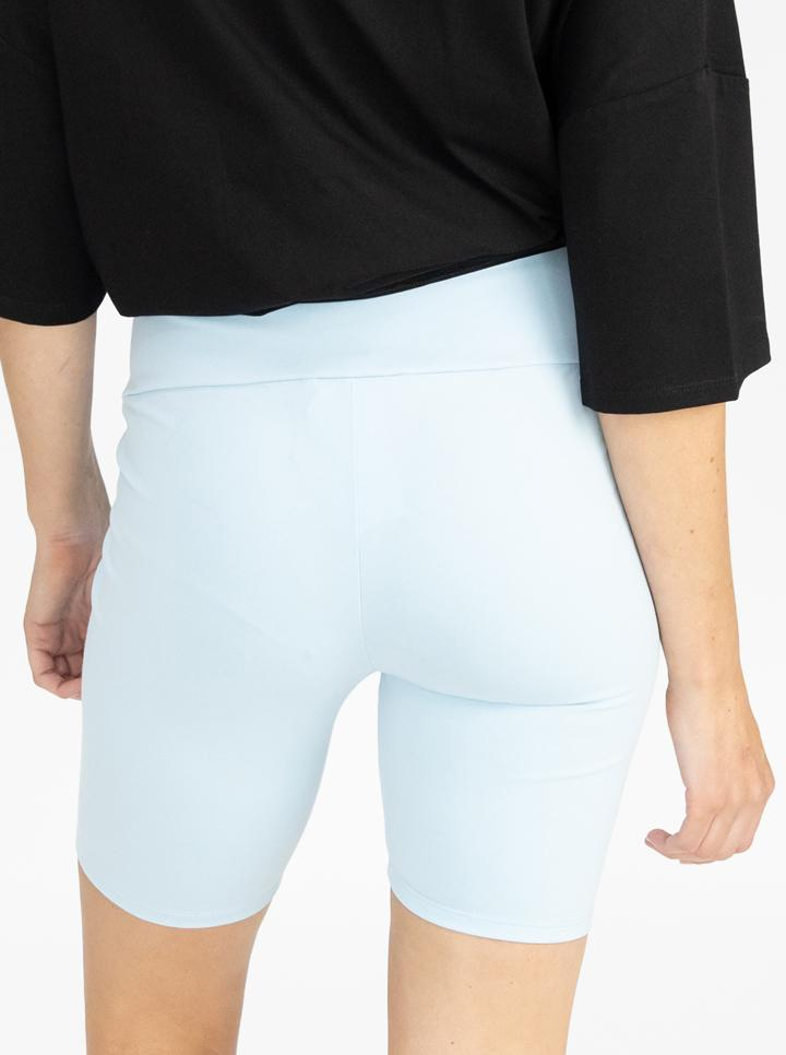 Maternity Bike Shorts - Blue back