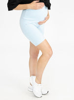 Maternity Bike Shorts - Blue main