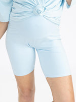 Maternity Bike Shorts - Blue front