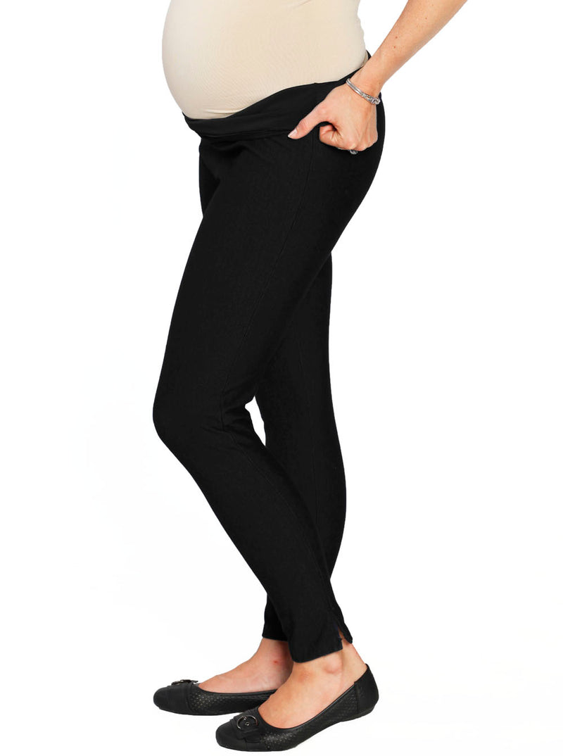 Maternity Deluxe Tummy Support Jegging -Denim Black
