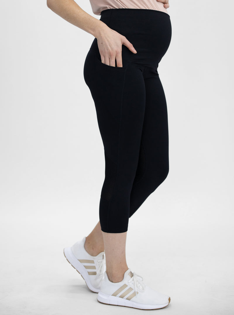 Maternity Workout Tight 3/4 Length Legging - Black main
