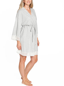 Ruby Joy Mommy Sleep Robe  - Grey