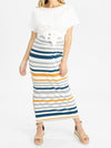 The Bianca Set bamboo front stripe skirt