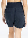 Maternity Tencel Summer Shorts - Navy back