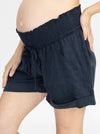 Maternity Tencel Summer Shorts - Navy