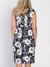 Zipper Nursing Party Dress - Green Floral Print