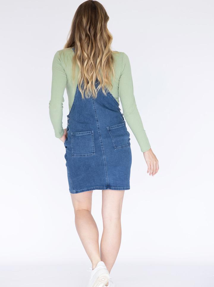 Maternity and Nursing Denim Pinafore