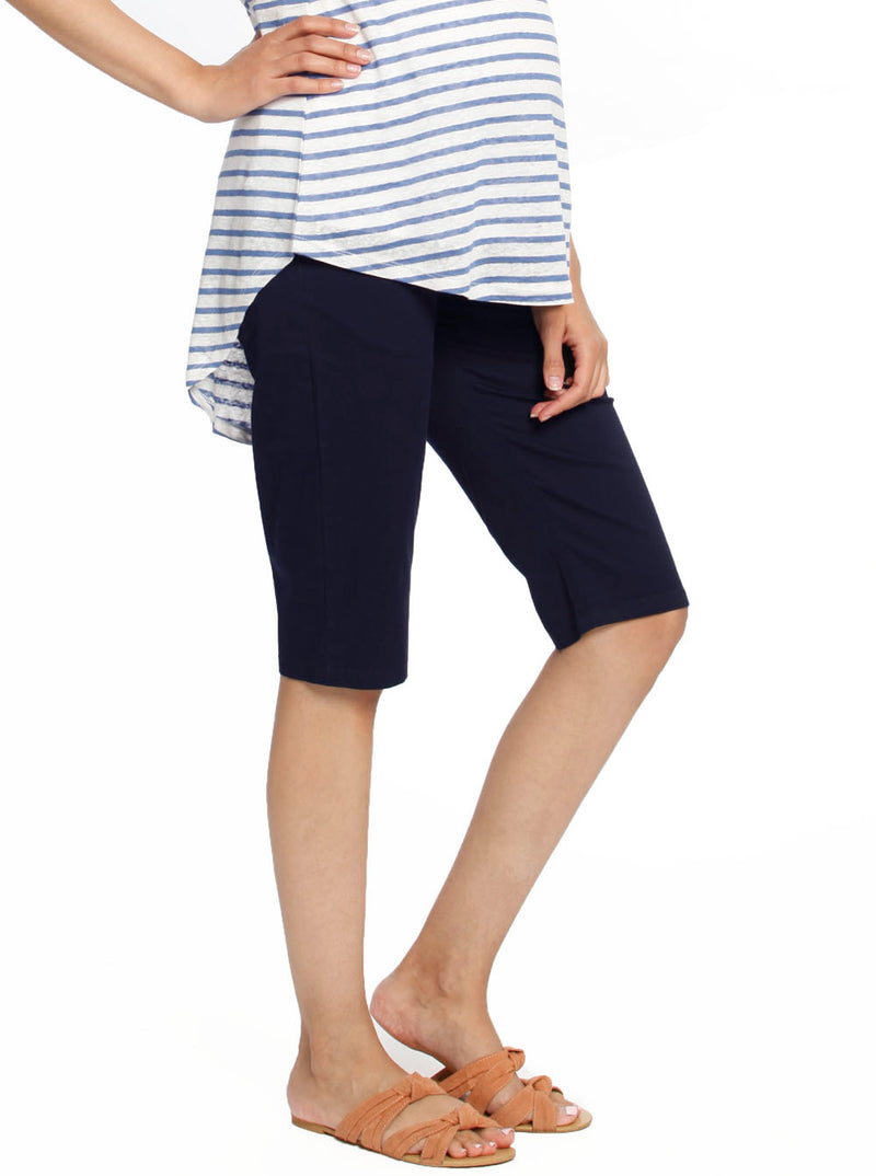 Maternity Knee Length Comfortable Cotton Shorts