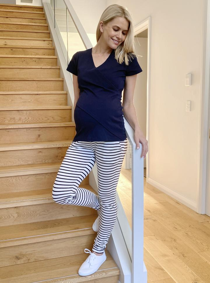 Home to streetwear set - Navy stripes main 2