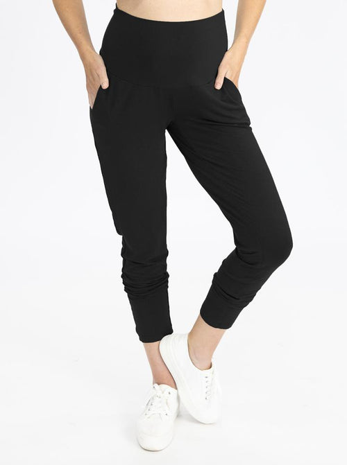 Maternity High Waist Pants in Black