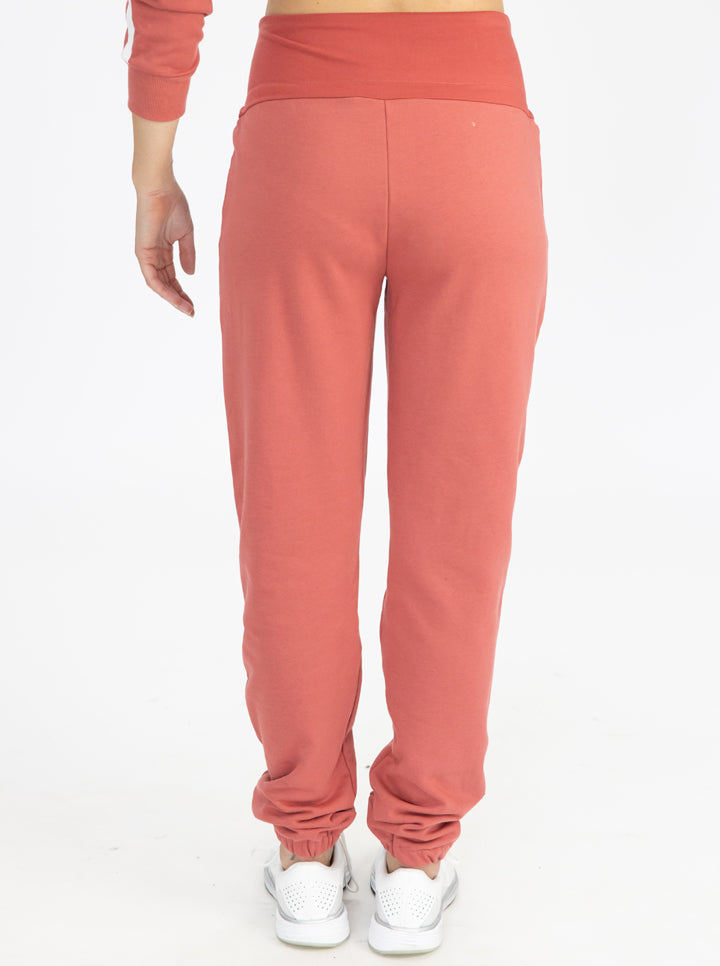 Tracksuit Set in Coral pants back