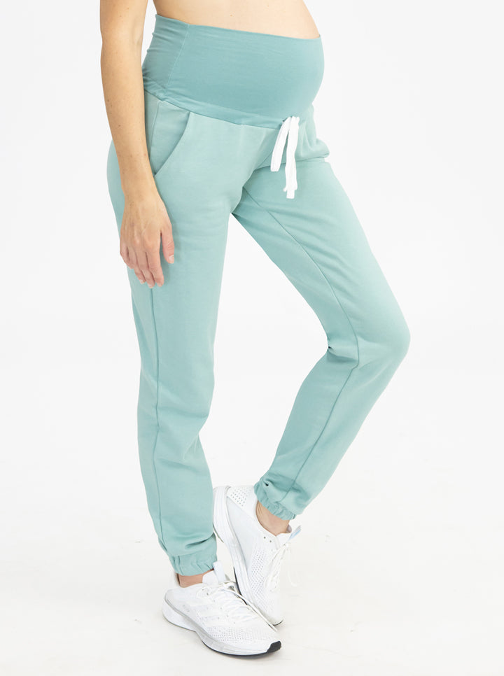 Tracksuit Set in Sage pants front