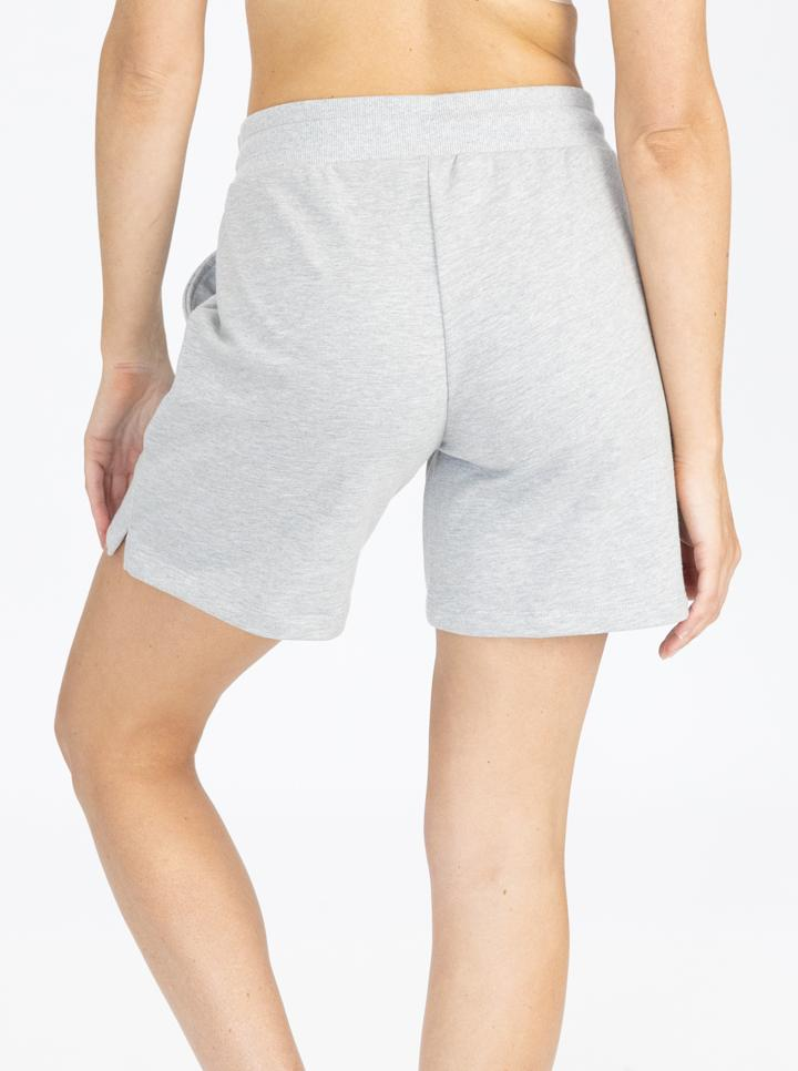 Cotton Maternity Summer Shorts in Marl Grey