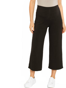 Maternity Wide Leg Relax Pants in Dark Charcoal