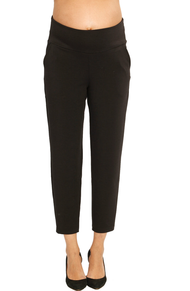 Maternity Work Pants in Ankle Length - Black