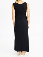 Maternity and Nursing Maxi Dress in Black