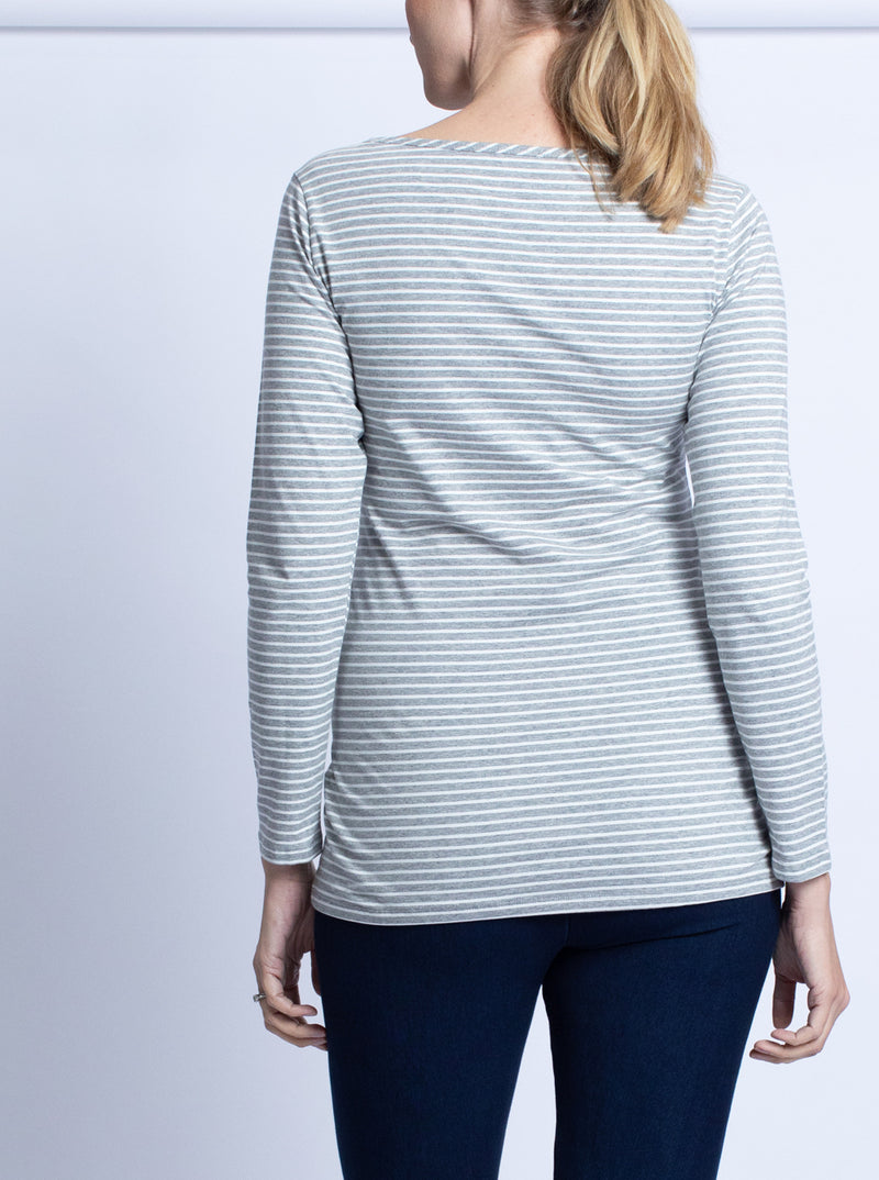 Busy Mommy Long Sleeve Nursing Top - Stripes