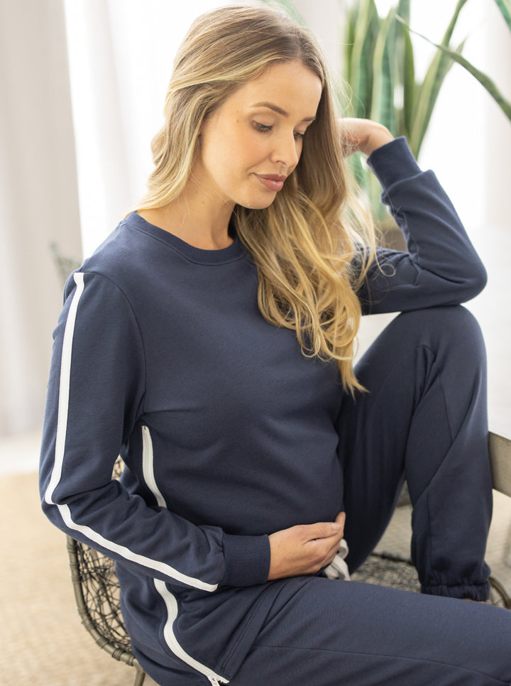 Tracksuit Set in Navy