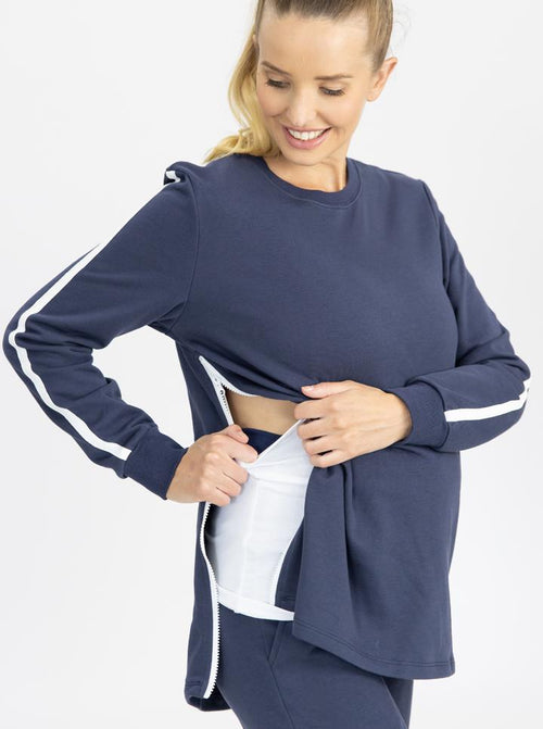 Tracksuit set in Navy - Maternity and Nursing Friendly nursing
