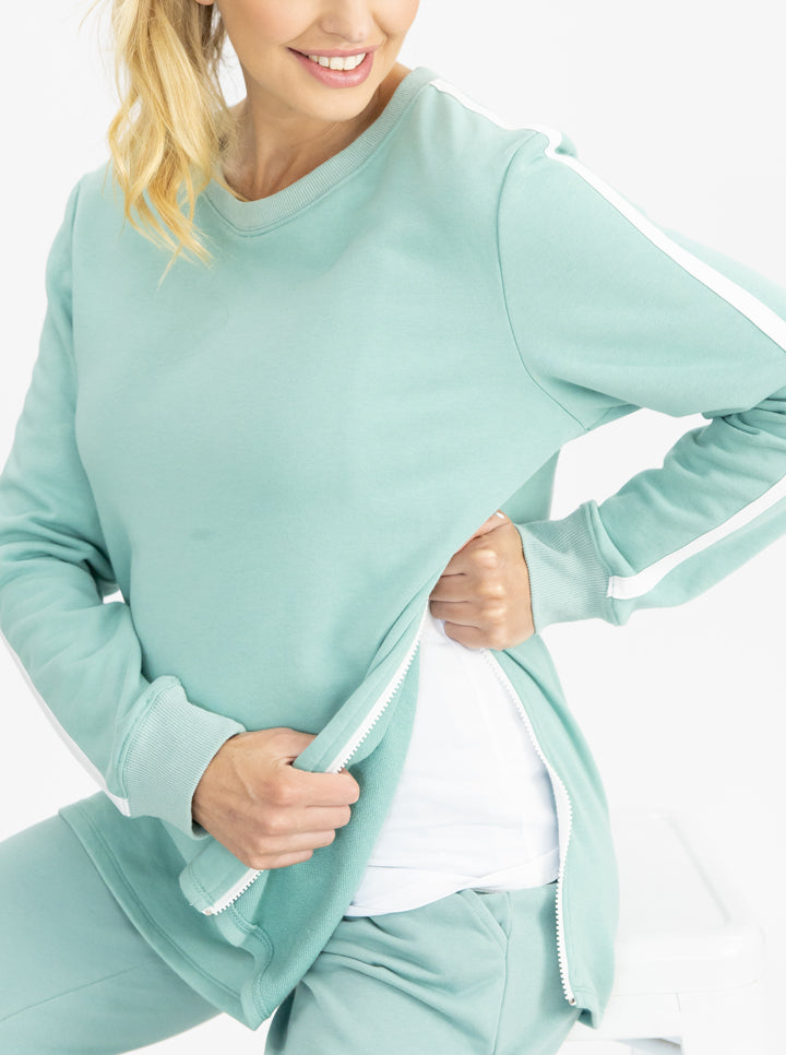 Tracksuit Set in Sage nursing