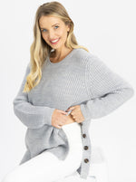 Maternity Oversized Luxury Wool Knit Nursing jumper with buttons