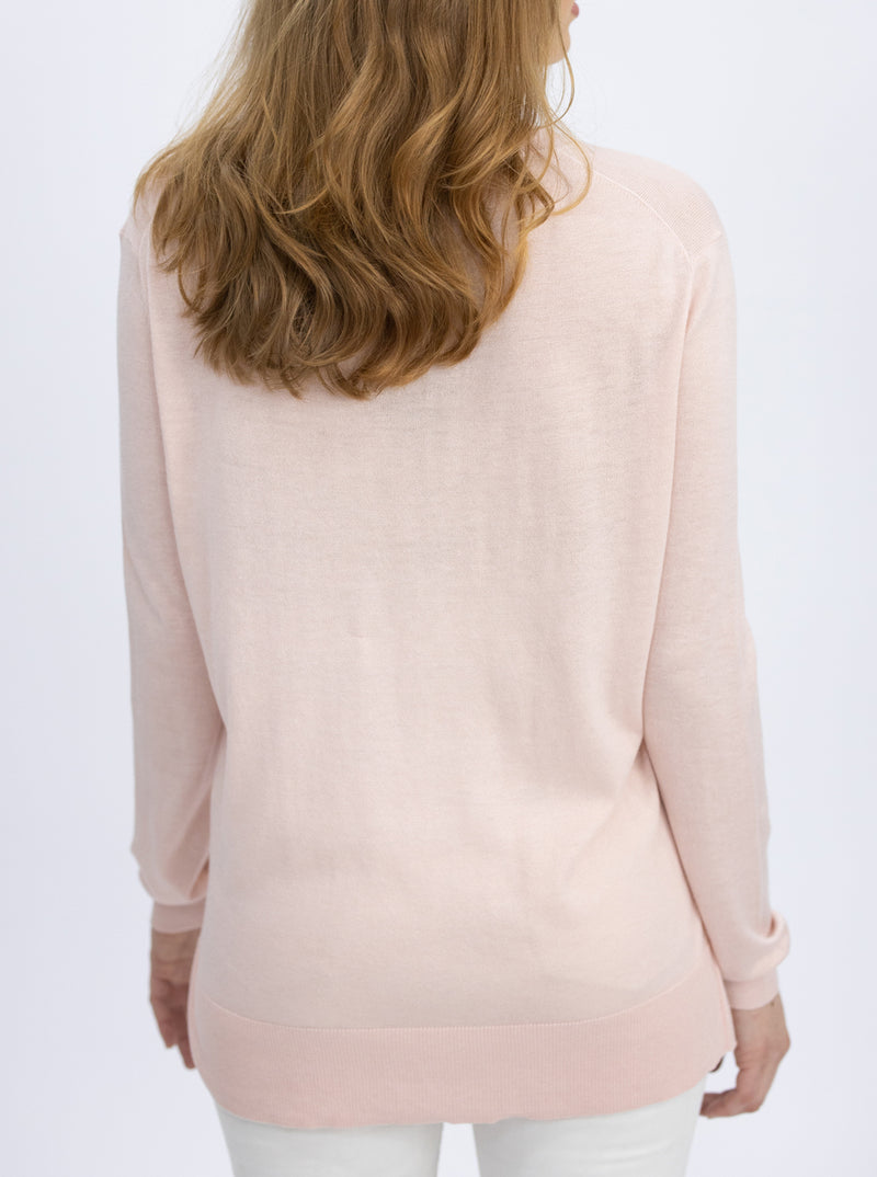 Maternity Oversize Wool Knit Jumper - Pink Back