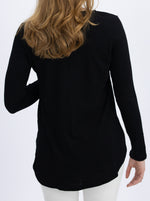 Long Sleeve Maternity and Nursing Top - Black