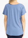 Reversible Maternity T-Shirt in Blue