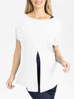 Reversible Maternity T-Shirt in Off White