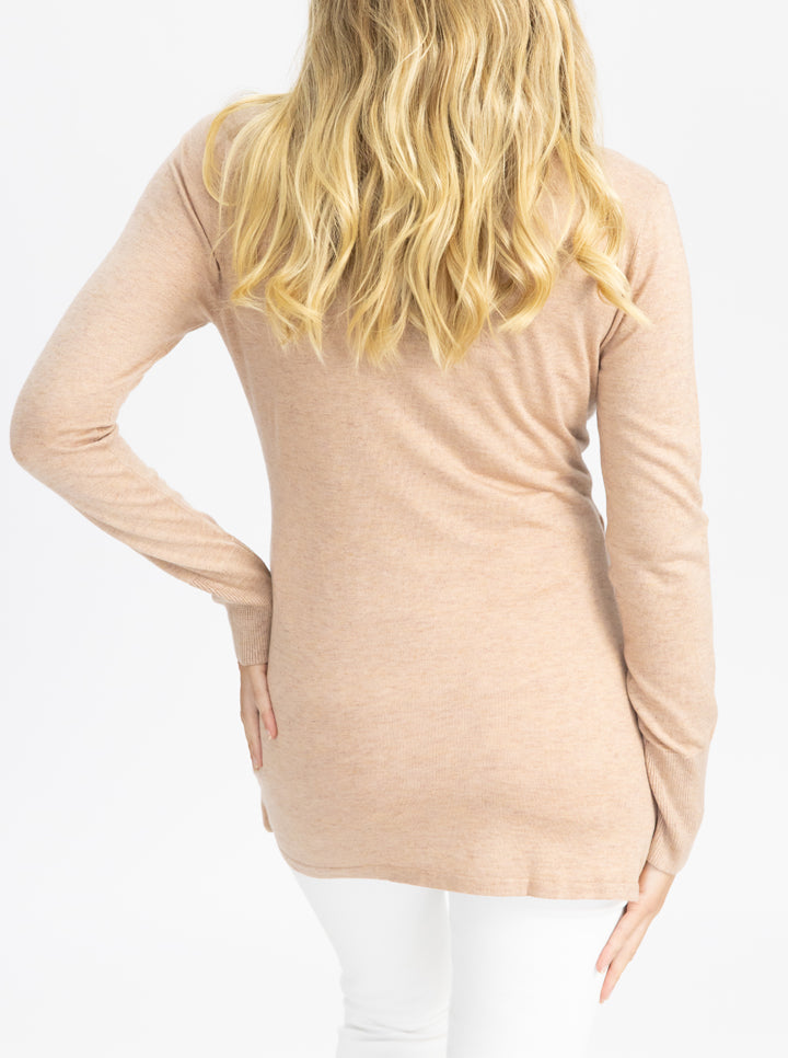 Maternity Merino Wool Knit Long Sleeve Top back