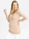 Maternity Merino Wool Knit Long Sleeve Top front