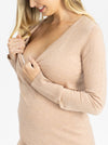 Maternity Merino Wool Knit Long Sleeve Top nursing