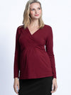 Maternity Bamboo Wrap Nursing Work Top