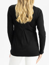 Long Sleeve Maternity and Nursing Top in Black back