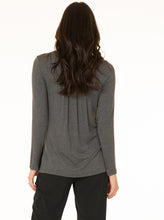 Maternity Petal Front Long Sleeve Nursing Top - Gray