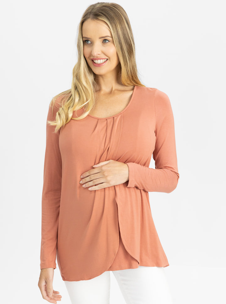 Long Sleeve Maternity and Nursing Top
