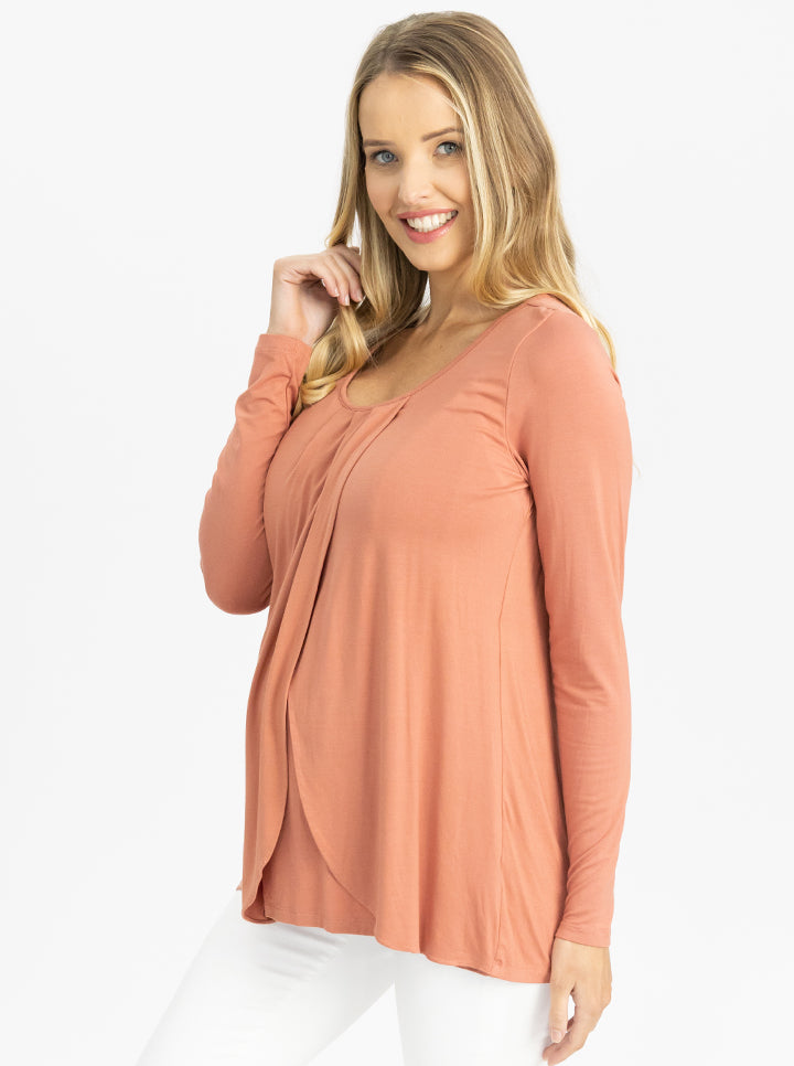 Long Sleeve Maternity and Nursing Top side