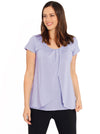 Petal Front Short Sleeve Nursing Top  - Violet