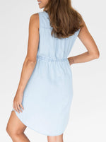 Maternity Dress in Light Denim Wash