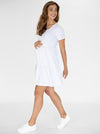 Maternity Tiered Dress in Marl Grey