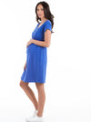 Maternity & Nursing Drawstring Dress
